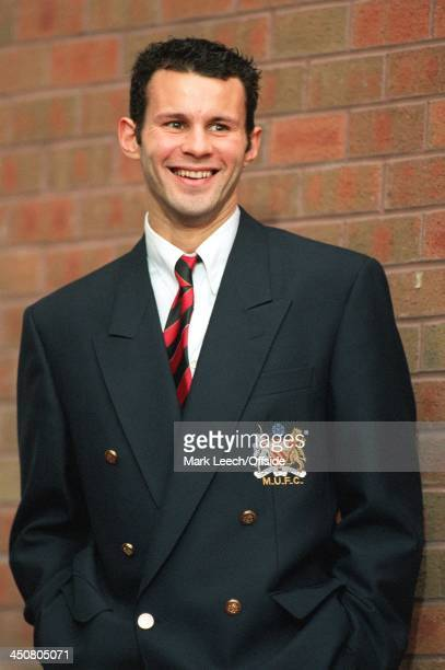Premiership Blackburn Rovers v Manchester United Ryan Giggs stands in his Manchester United blazer