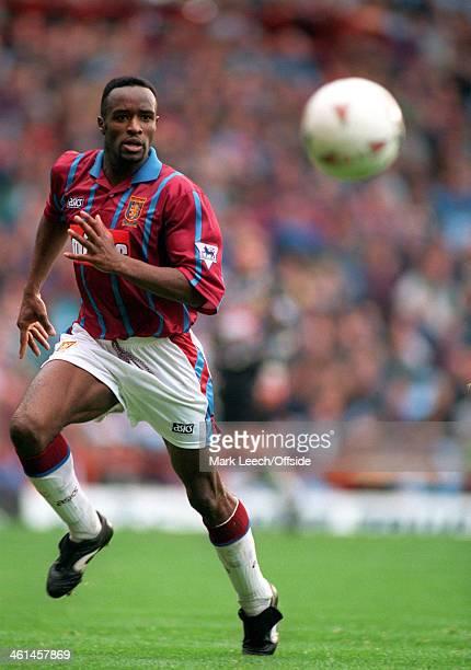Premiership Football Aston Villa v Nottingham Forest Earl Barrett of Villa