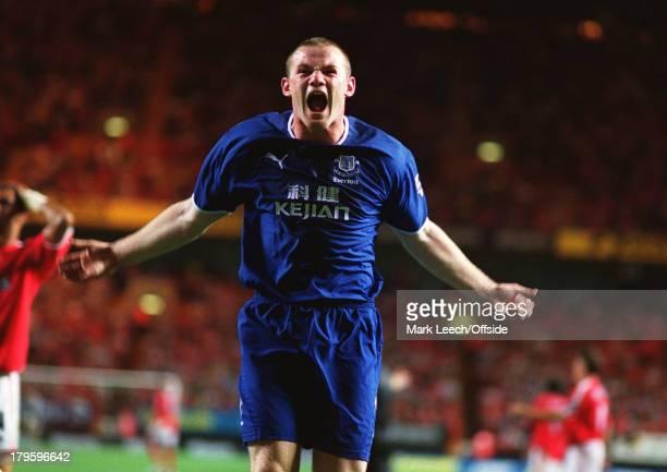 Premiership Football Charlton Athletic v Everton Wayne Rooney celebrates after scoring for Everton