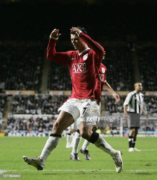 "Premiership Football - Newcastle United v Manchester United.""nManchester Utd Cristiano Ronaldo reacts after a missed chance on goal against Newcastle..."