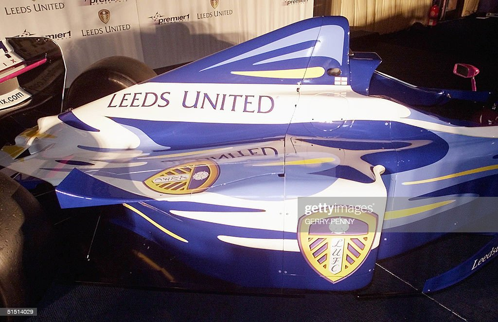 Premiership leaders Leeds United show their logo a : News Photo