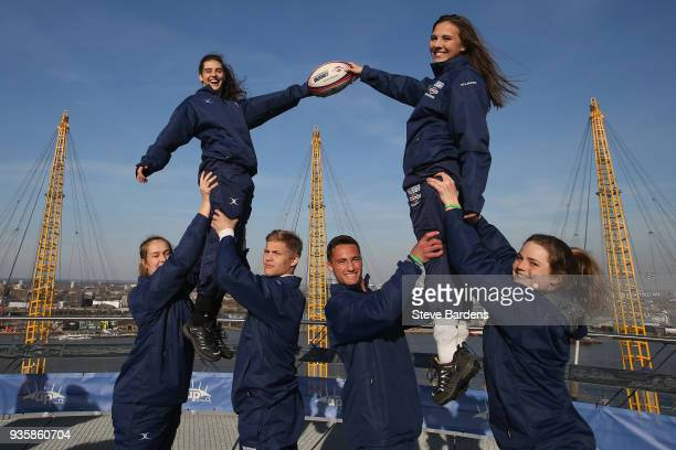 Premiership Rugby Scholarship Winners pictured as part of a groundbreaking initiative in partnership with Friends of the British Council AEG Rugby...