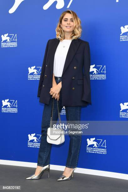Premio Venezia Opera Prima 'Luigi De Laurentiis' jury member Greta Scarano attends the Jury photocall during the 74th Venice Film Festival on August...