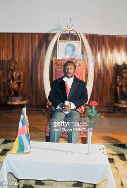 Première apparition en public de JeanBedel Bokassa après sa nomination comme Empereur de Centrafrique le 21 décembre 1976 à Bangui Centrafrique