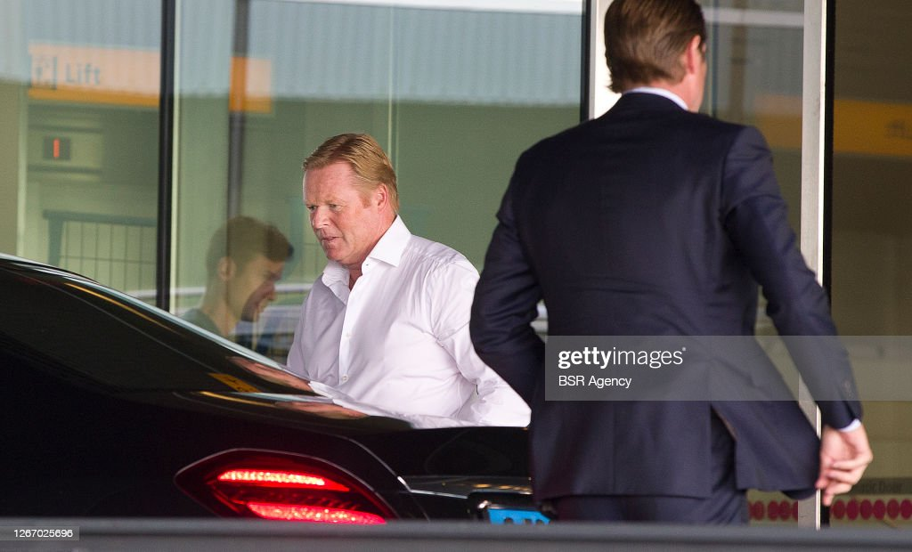 Ronald Koeman Departs From Holland To Spain : News Photo