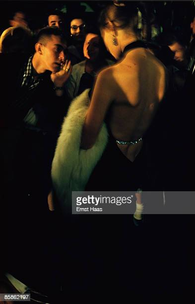 Premium Rates Apply A glamorous woman attracts attention in Hollywood California circa 1970