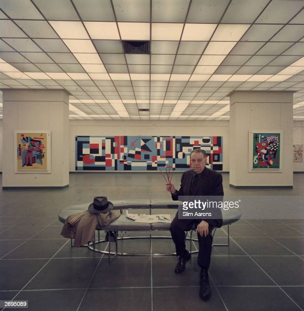 Premium Rates Apply American abstract painter Stewart Davis in the Museum of Modern Art New York