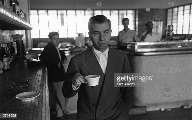 Premium Rates Apply Sicilianborn American gangster Charles Luciano relaxes in exile from the FBI His criminal empire included narcoticspeddling...