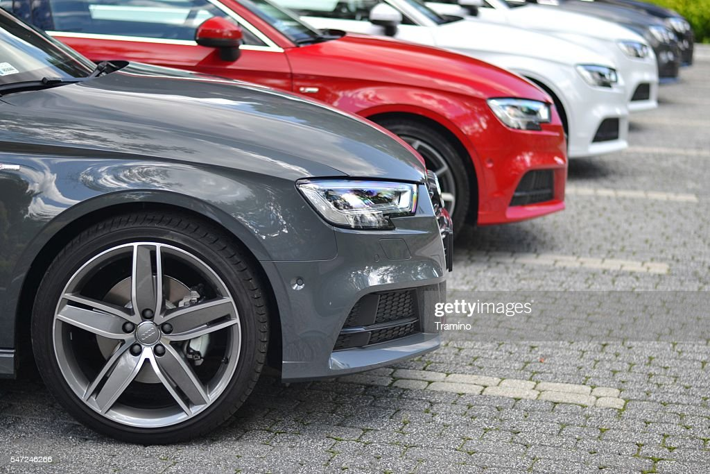 Premium vehicles on the parking : Stock Photo