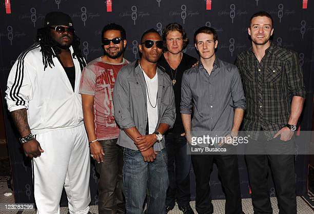 Premo D'Anger Free Kickman Teddy Elliott Ives DJ Charlie White and 901 Tequila CEO and Founder Justin Timberlake and Executive Producer of...