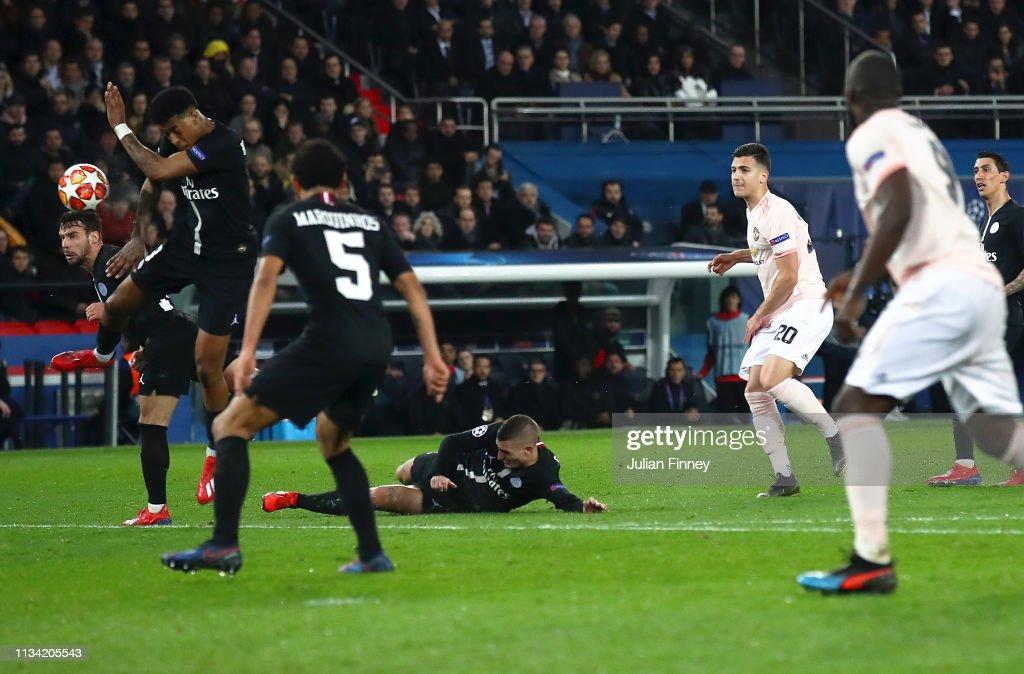 Paris Saint-Germain v Manchester United - UEFA Champions League Round of 16: Second Leg : Fotografía de noticias