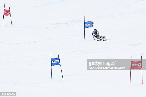 Prenom Mathieu Faivre of France competes during the Audi FIS Alpine Ski World Cup Men's Giant Slalom on February 13 2016 in Naeba Japan