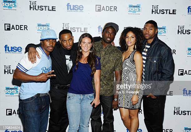 Prentice Penny Clinton Lowe Julia Beverly Y'lan Noel Erica Dickerson and London Brown attend Fuse's screening of 'The Hustle' at Converse Rubber...