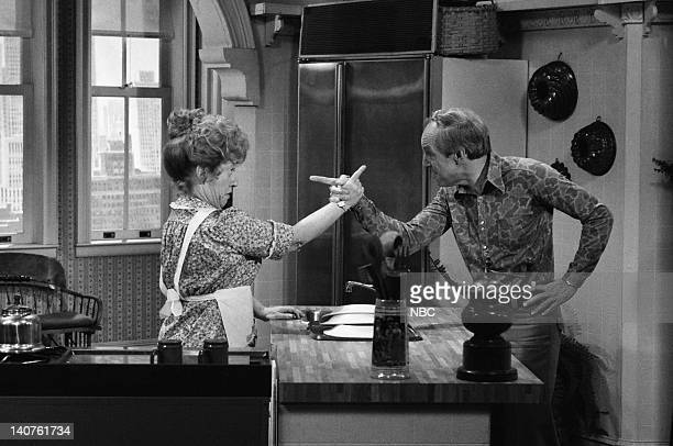 RENT STROKES 'Prep School' Episode 4 Pictured Charlotte Rae as Edna Garrett Conrad Bain as Philip Drummond Photo by NBC/NBCU Photo Bank
