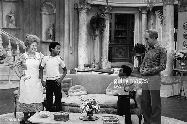 RENT STROKES 'Prep School' Episode 4 Pictured Charlotte Rae as Edna Garrett Todd Bridges as Willis Jackson Gary Coleman as Arnold Jackson Conrad Bain...