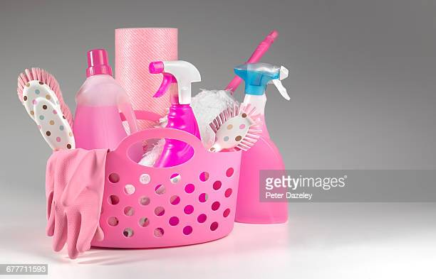 preparation for spring cleaning - cleaning agent stock pictures, royalty-free photos & images