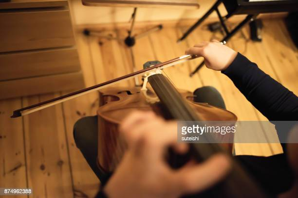 preparation for the next concert - maxim musician stock photos and pictures