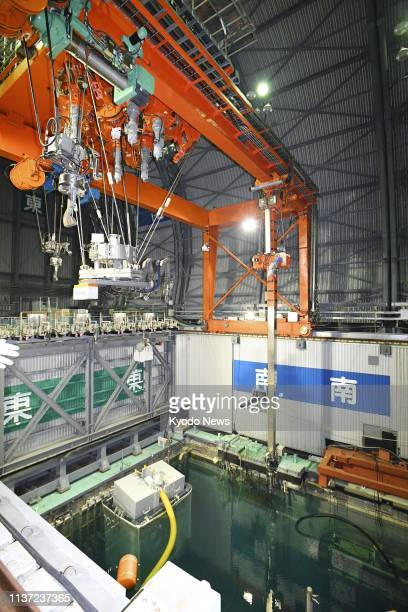 Preparation is under way on the operation floor of the No 3 reactor of the crippled Fukushima Daiichi nuclear power plant in Okuma town northeastern...