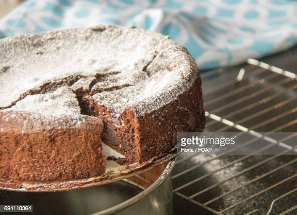 preparation of chocolate cake - sugar glider stock photos and pictures
