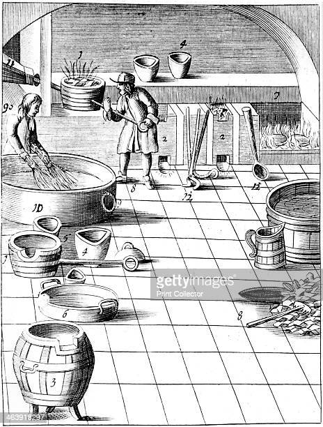 Preparation of copper and silver to be alloyed for production of coins 1683 Copper is melted while an apprentice soaks birch twigs in water When the...
