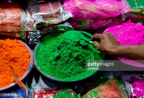 Preparation of Holi in Kolkata India on 19 March 2019 The Hindu Festival of Holi also known as Festival of colours which symbolises the beginning of...