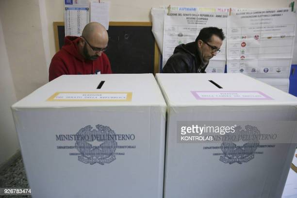Preparation of polling stations for political voting on March 4th