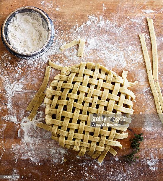 Preparation of Savory Meat Pie with Lattice Crust