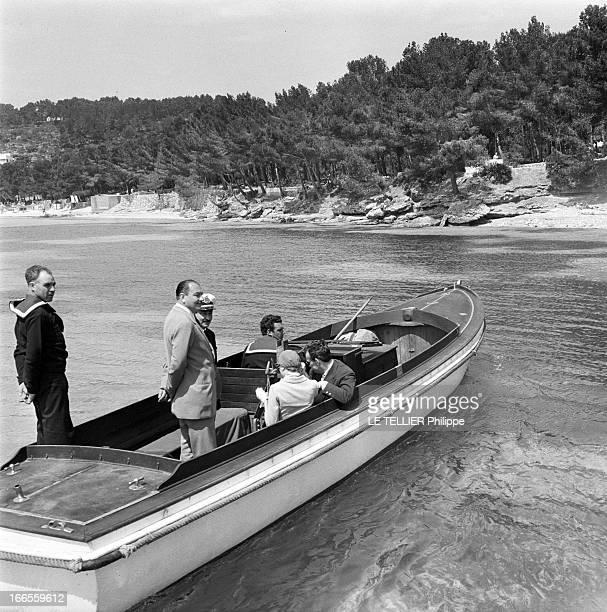 Preparation Wedding And Honeymoon Of Grace Kelly And Rainier Iii Of Monaco Le prince RAINIER de Monaco et son épouse GRACE en voyages de noces à bord...