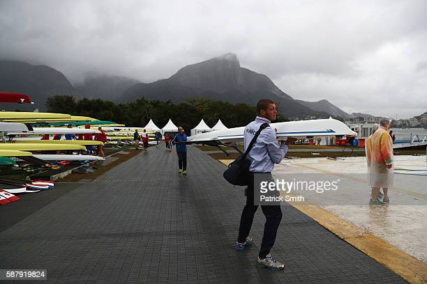 Preparations ahead of Day 5 of the Rio 2016 Olympic Games at Lagoa Stadium on August 10 2016 in Rio de Janeiro Brazil