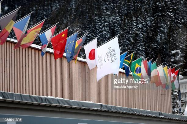 Preparations are made ahead of the 49th World Economic Forum annual meeting bringing together business leaders and international political leaders to...