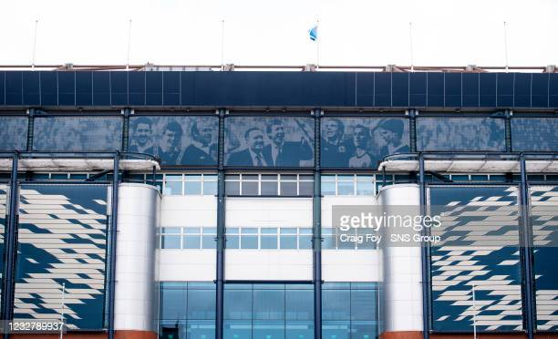 Preparations are underway as UEFA begin to get the stadium and surrounding areas ready for Euro 2020 at Hampden Park, on May 09 in Glasgow, Scotland.