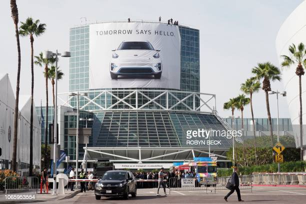 Preparations are underway at the Los Angeles Convention Center ahead of the LA Auto Show November 27 2018 The 2018 LA Auto Show is open to the public...