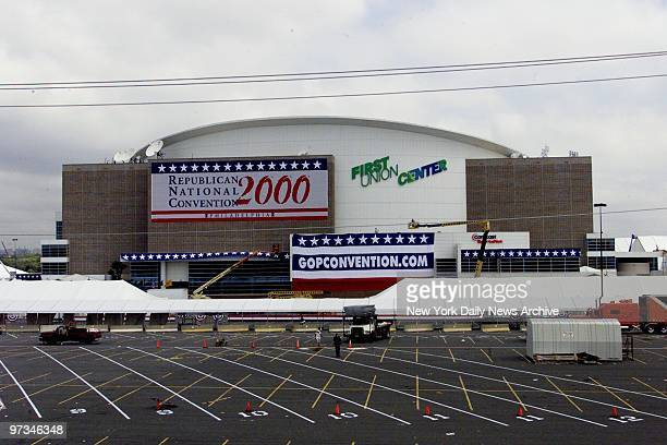 Preparations are underway for the Republican National Convention at the First Union Center in Philadelphia