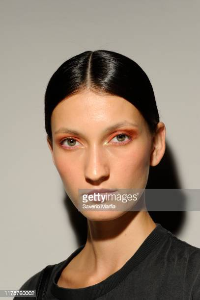 Preparations backstage for Vivetta fashion show during the Milan Fashion Week Spring/Summer 2020 on September 19, 2019 in Milan, Italy.
