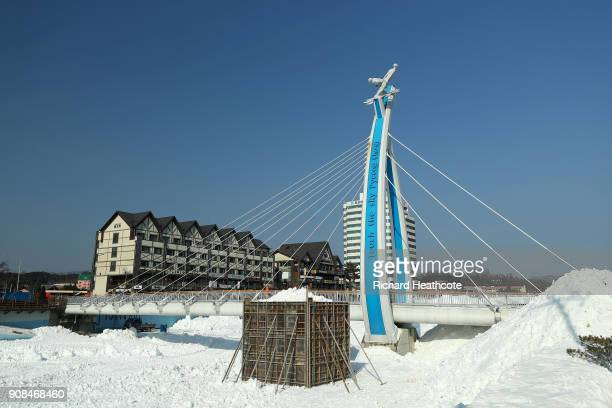 Preparations continue ahead of the Pyeongchang 2018 Winter Olympics on January 21 2018 in Pyeongchanggun South Korea
