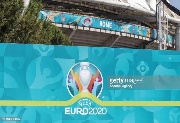 Preparations continue at the Stadio Olimpico ahead of the inaugural match of the UEFA Euro 2020 football tournament between Turkey and Italia, in...