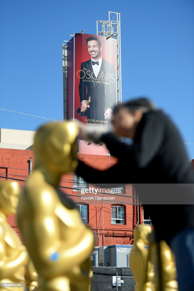 Preparations continue for the 89th Academy Awards at Hollywood and Highland Center on February 22, 2017 in Los Angeles, California.