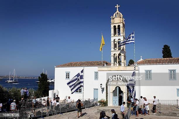 Preparations for the Greek Royal Wedding continue at the Cathedral of Ayios Nikolaos at the Cathedral of Ayios Nikolaos at The Saint Nikolaos Church...