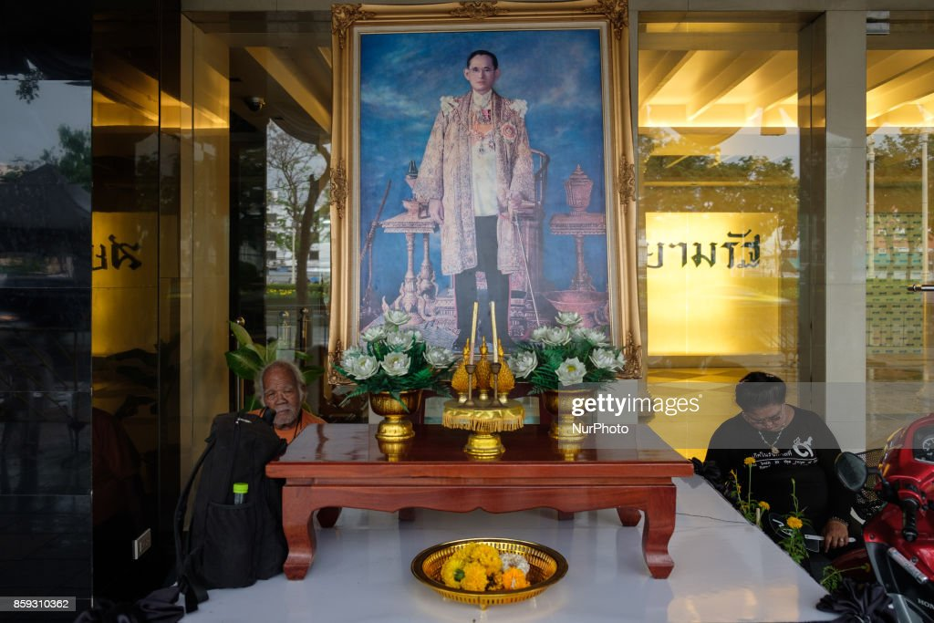 Preparations in Bangkok on October 9, 2017 of royal funeral of King Bhumibol Adulyadej. On October 13th the Royal Cremation of the late Thai king Bhumibol Adulyadej will take place in the Thai capital Bangkok. Ahead of this solemn event mourners have been queuing up to pay their last respect to the King and the government is putting the final touches in preparation of what will be a solemn ceremony.