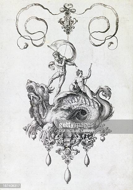 Preparatory drawing for a pendant made by Flemish engraver Hans Collaert London Victoria And Albert Museum