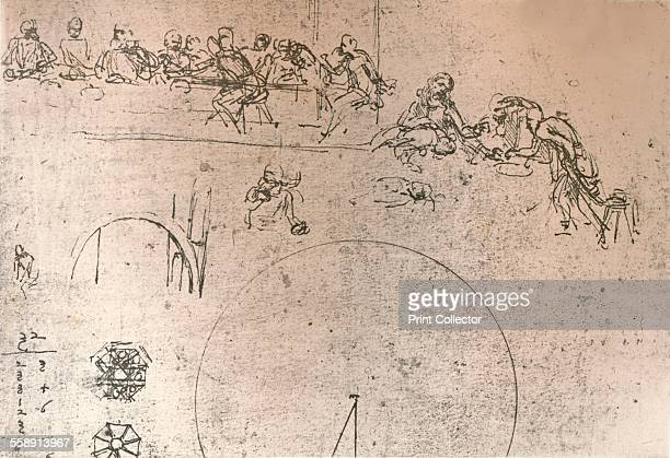 Preparatory sketch for the painting of `The Last Supper` c1494c1499 From The Literary Works of Leonardo Da Vinci Vol 1 by Jean Paul Richter PH DR...