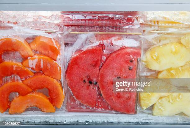 3 prepared and packaged fruits