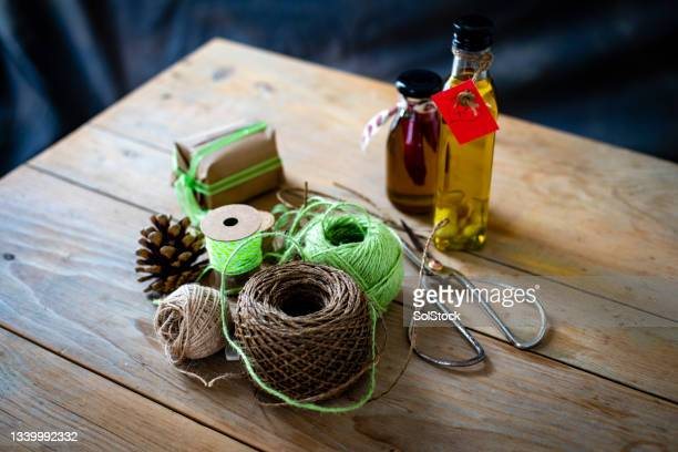 prepared for the festive period - needlecraft stock pictures, royalty-free photos & images