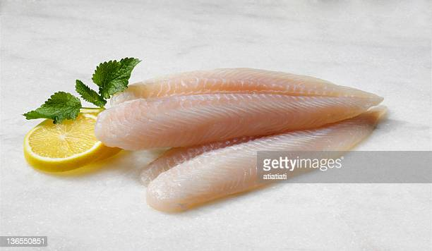 prepared sea bass fillets