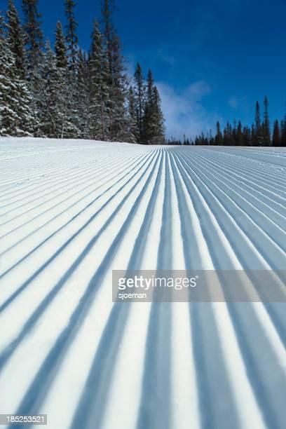 Prepared ski piste