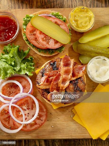 Preparing a Bacon Cheeseburger