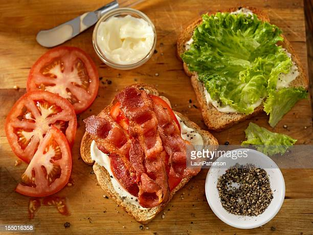 Preparing a BLT Sandwich