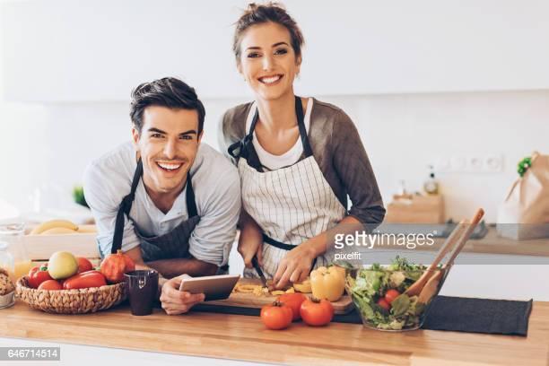 Der Zubereitung eines frischen Salat