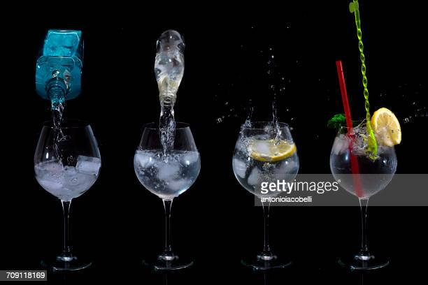 Preparing a gin and tonic