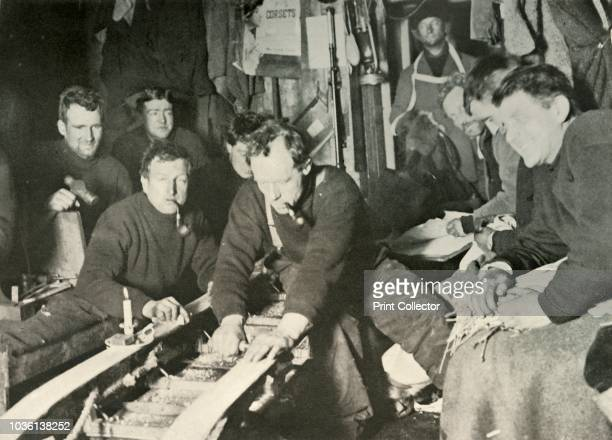 Preparing A Sledge During the Winter' Inside the Cape Royds Hut Shackleton Bertram Armytage Armytage Jameson Adams Frank Wild and Joyce A poster...
